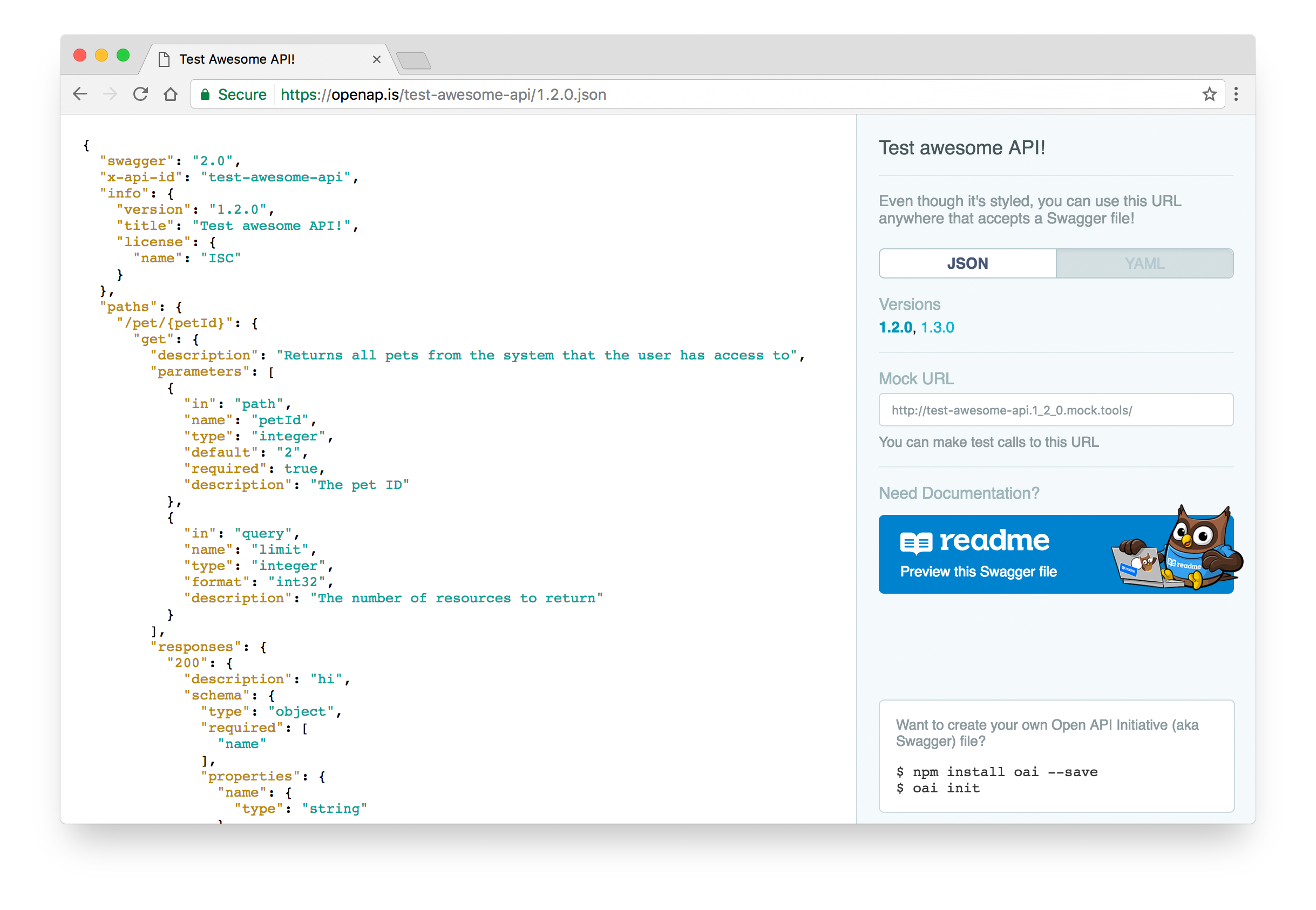 Documenting your API right in your code with Swagger
