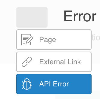 API Error type screenshot